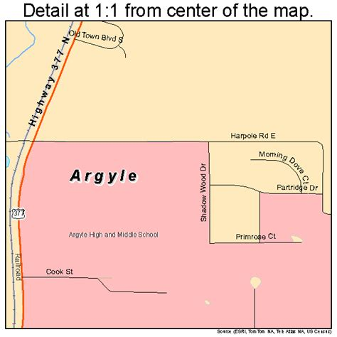 argyle texas map argyle texas map 4803768