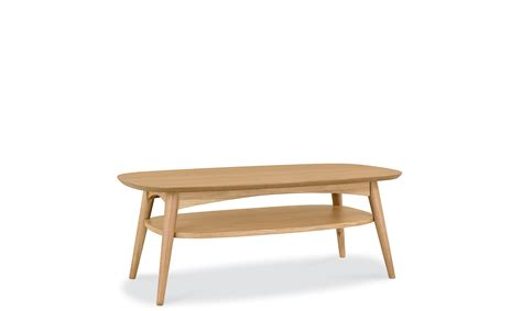 stockholm oak coffee table with shelf coffee tables
