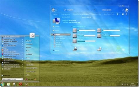 download theme windows 7 aero glass download aero glass transparent theme for windows 7