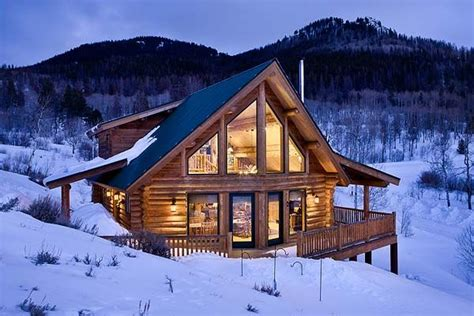 exterior photo of handcrafted log home homes out of the