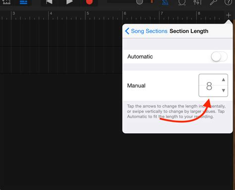 song sections how to use sections in garageband ios