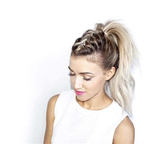 mohawk hair long in the front 17 best ideas about braid ponytail on pinterest plaited