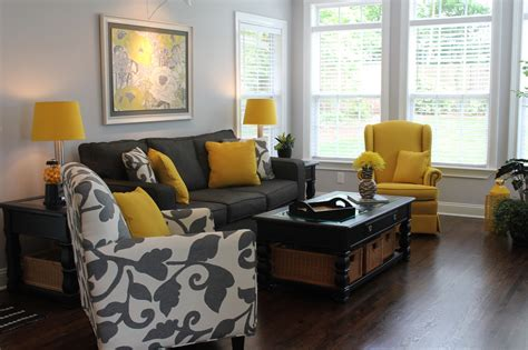 black grey and yellow living room carolina charm day