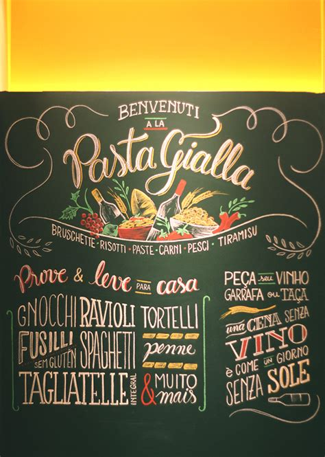 typography served la pasta gialla on typography served