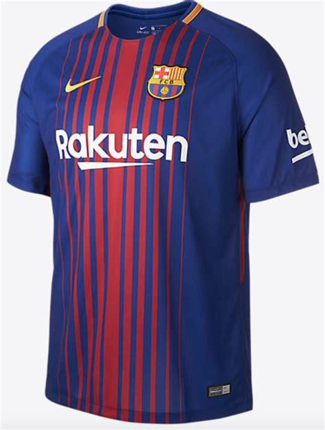 Jersey Barcelona Home Biru Merah 2017 2018 Grade Ori pakai sponsor baru ini jersey home barcelona 2017 18 fourfourtwo