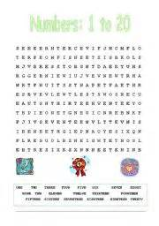 english teaching worksheets numbers wordsearch