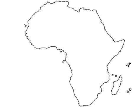 image gallery outline of african continent