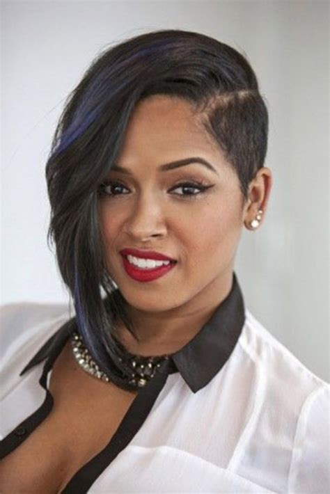 short hair longer on one side black hairstyles short on one side hairstyles