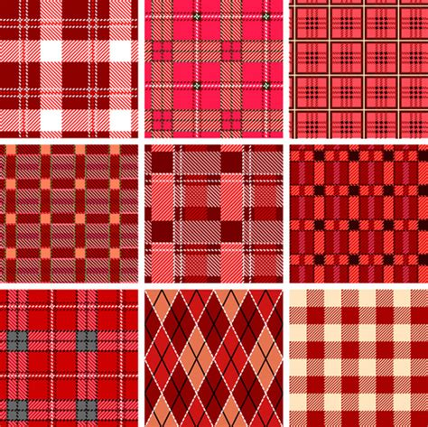 fabric pattern download set of different fabric patterns vector free vector in