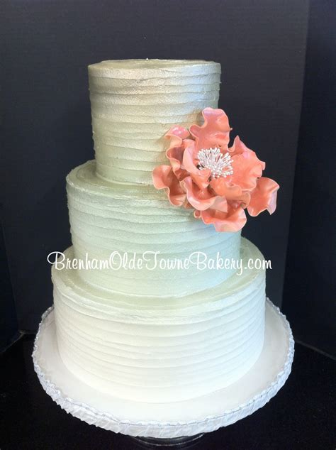 buttercream recipes for wedding cakes metallic ombre rustic buttercream wedding cake brenham