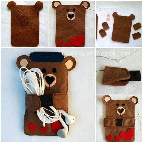 como hacer una funda para celular funda para celular con forma de oso manualidades para vender