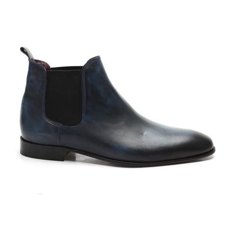 Burnished Chelsea Boots burnished chelsea boot blue 39 s baker