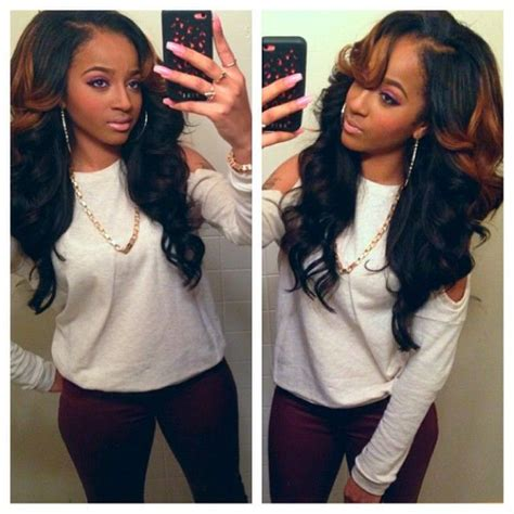 best way to sew in a weave for long hair 17 best ideas about colored weave hairstyles on pinterest