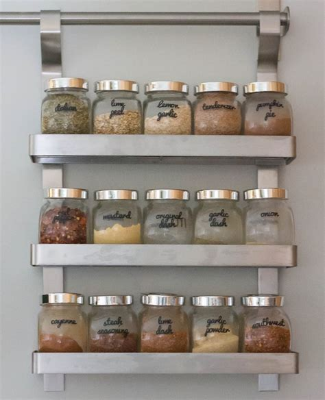 ikea spice rack and mini jars for inside of pantry closet spice jar organizing archives i heart planners