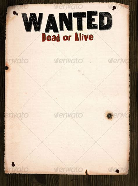 Wanted Poster On Wood 9 Free Premium Wanted Poster Wanted Poster Psd