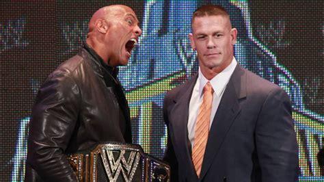 dwayne johnson the rock vs john cena john cena regrets feud with dwayne the rock johnson it