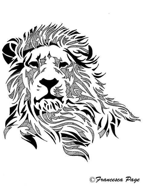 lion tattoo designs free pattern drawing of a vintage images
