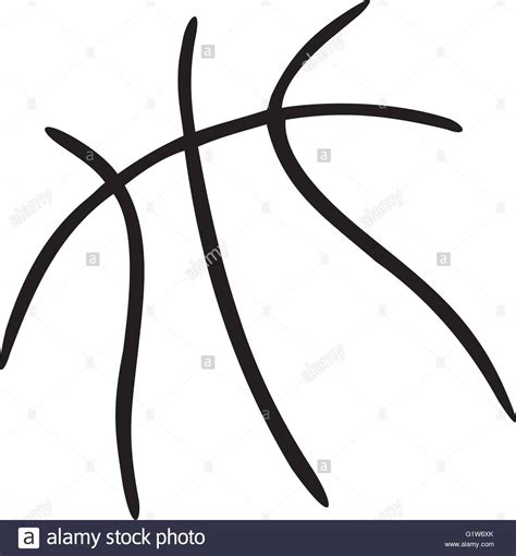 basketball clipart vector basketball lines stock vector illustration