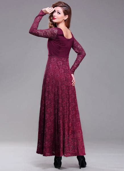 Maxi Maroon 1 sleeve maroon lace maxi dress with scoop back rm396 robeplus