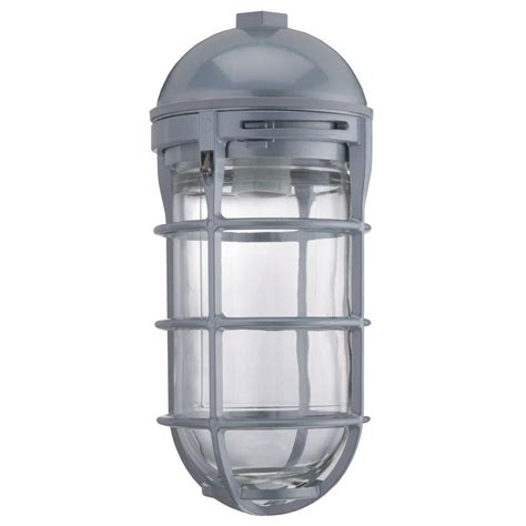 Utility Lighting Fixtures Lithonia Lighting 1 Light Gloss With Gray Utility Vapor Tight Pendant Vp150i M12 The Home Depot