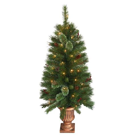 9 ft lighted trees national tree company 4 ft glistening pine entrance