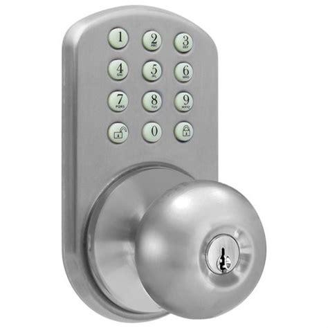 bedroom door lock with keypad milocks tkk 02sn digital door knob lock with keyless entry