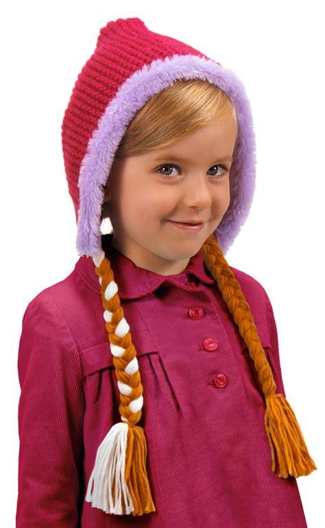 crochet princess hat with braids licensed disney princess frozen anna child adult costume