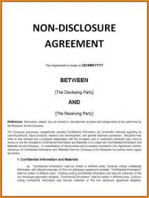 8 basic non disclosure agreement inventory count sheet