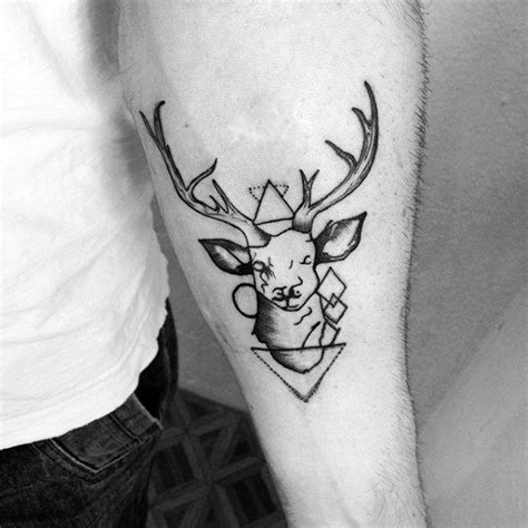 small moose tattoo 60 moose designs for antler ink ideas