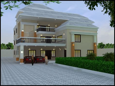 online exterior house design online house plan designer with contemporary 8 bedrooms triplex house for 24m x 51m