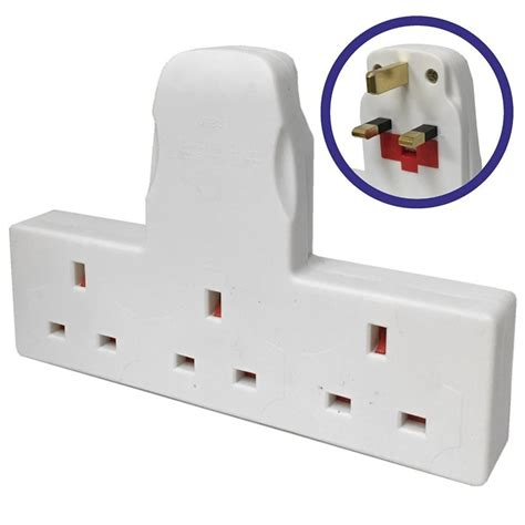 Adaptor Multi 3 way adapter mains adaptor cable free multi socket extension ebay