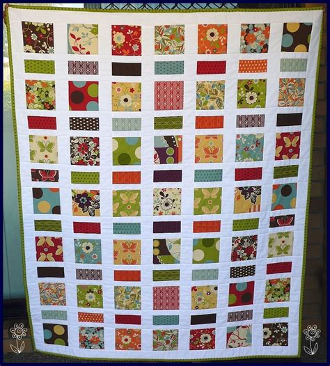 Ideas For 5 Inch Quilt Squares Cute I Love The Crisp White Separation Quilts Pinterest 5 Inch Square Quilt Template