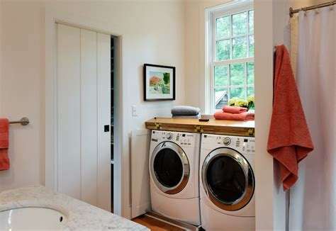 can you put bathroom rugs in the dryer bathroom washer and dryer transitional laundry room