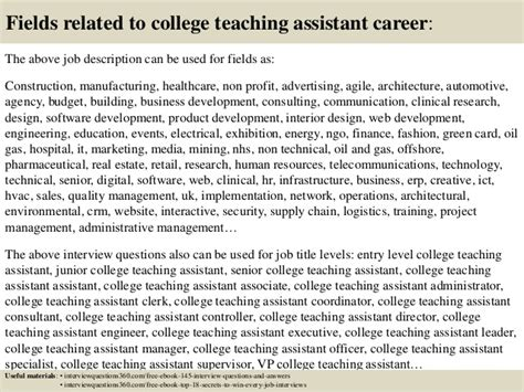top 10 college teaching assistant questions and