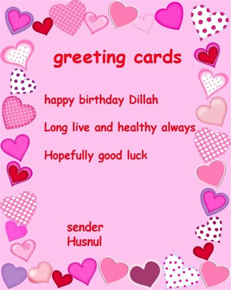 Contoh Greeting Card Birthday