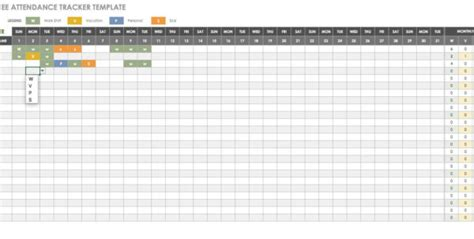 employee annual leave record spreadsheet google