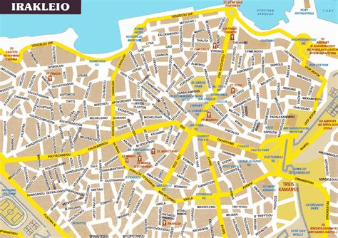 map city of crete maps print maps of crete map of chania or heraklion