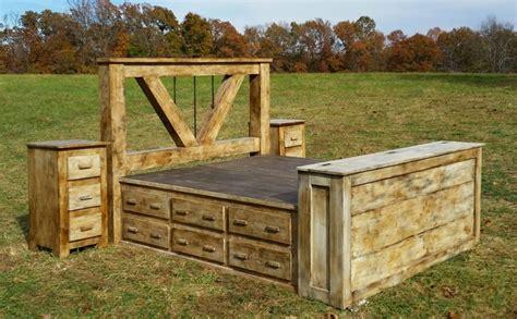 King Platform Bed Set - deluxe home defense 5 piece platform bed set