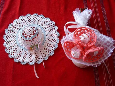 fiori all uncinetto per bomboniere bomboniere uncinetto foto matrimonio