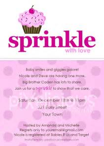 Sprinkle custom baby shower invitation girl by totallypixelicious