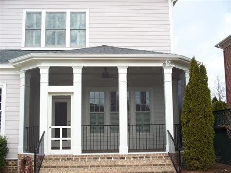 Hip Roof Screened Porch hip roof screened in porch traditional porch by kolby construction company