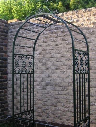 Garden Arch Metal Black Large Black Metal Arch With Scrolls Garden Arches