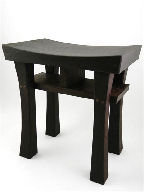 asian stools benches asian style bench stool wenge finewoodworking