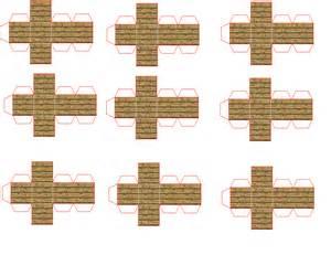 Minecraft Papercraft Wooden Planks - papercraft mini wood planks pack oak