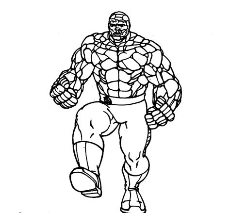 Fantastic 4 Coloring Pages Az Coloring Pages The Thing Coloring Pages