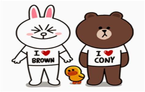 Brown Cony Line sticker line brown and cony deloiz wallpaper