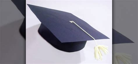 Paper Cap - how to make a paper graduation cap with your 171