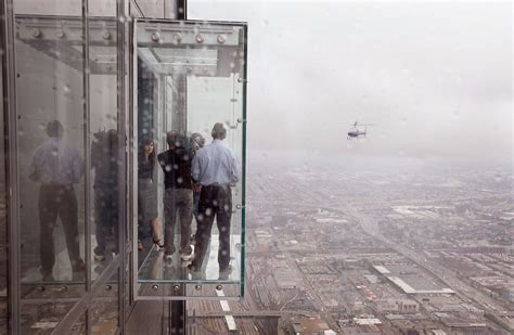 Sears Floor by Protective Coating On Willis Tower Ledge Cracks