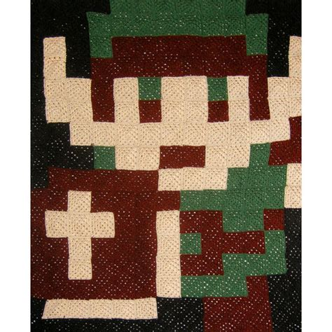 zelda afghan pattern custom pixelated afghan link crochet blankets and blanket