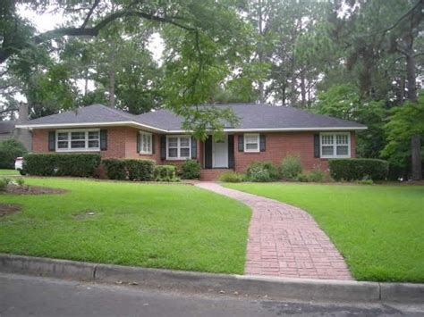 Mid Century Modern Ranch House photo of 60s red brick ranch style house